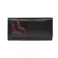 Dámská kožená peněženka LAGEN 6011/T černá/červená č.1