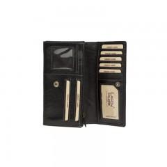 Dámská kožená peněženka LAGEN 6011/T černá/červená č.2