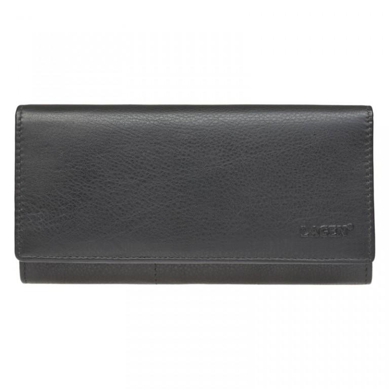 Dámská kožená peněženka LAGEN W-102/L černá