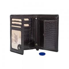Pánská kožená peněženka LAGEN 4019NC hnědá č.2
