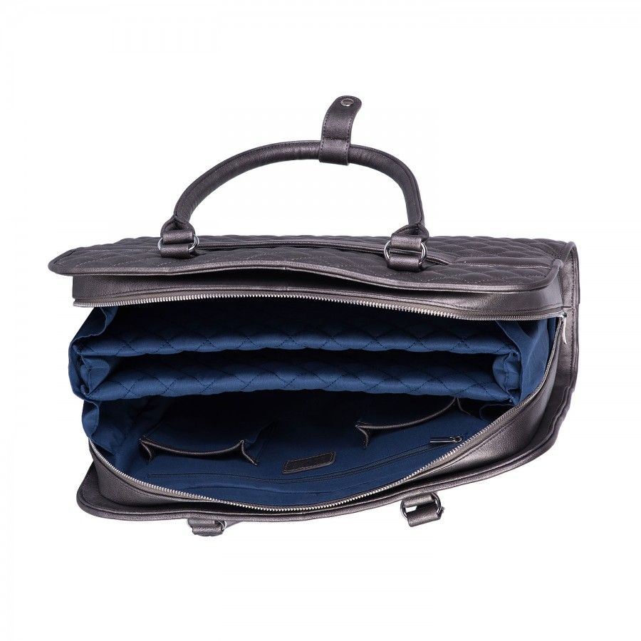 70b5b54a3 Dámská kabelka na notebook SOCHA Diamond Grey | PROSCH BAGS