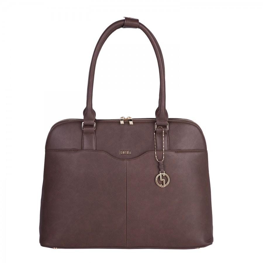 025729366 Dámská kabelka na notebook SOCHA Couture Brown | PROSCH BAGS