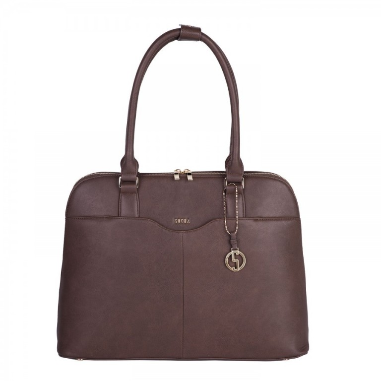 Kabelka na notebook SOCHA Couture Brown 15,6""