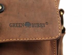 Kožená taška Greenburry 1757AM-25 hnědá č.6