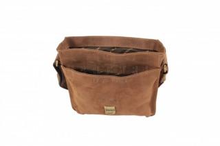 Kožená taška Greenburry 1757AM-25 hnědá č.9