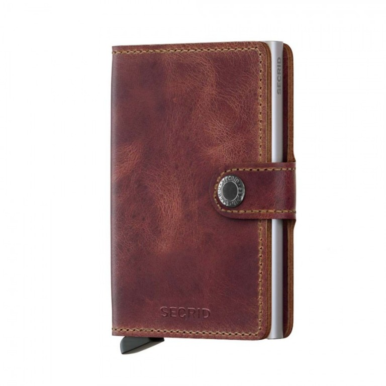Miniwallet Secrid Vintage Brown