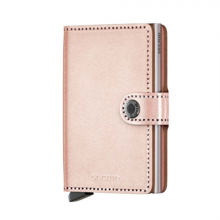 Miniwallet Secrid Metallic Rose-Silver