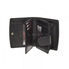 Kožená peněženka LAGEN 3807/T černá č.2