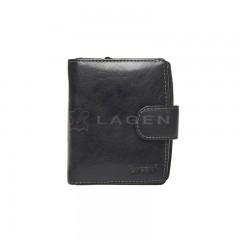 Kožená peněženka LAGEN 3807/T černá č.1