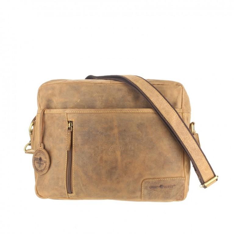 Kožená taška Greenburry 1653-25 hnědá