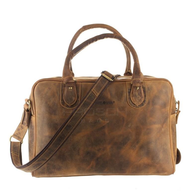 Kožená taška Greenburry 1652-25 hnědá
