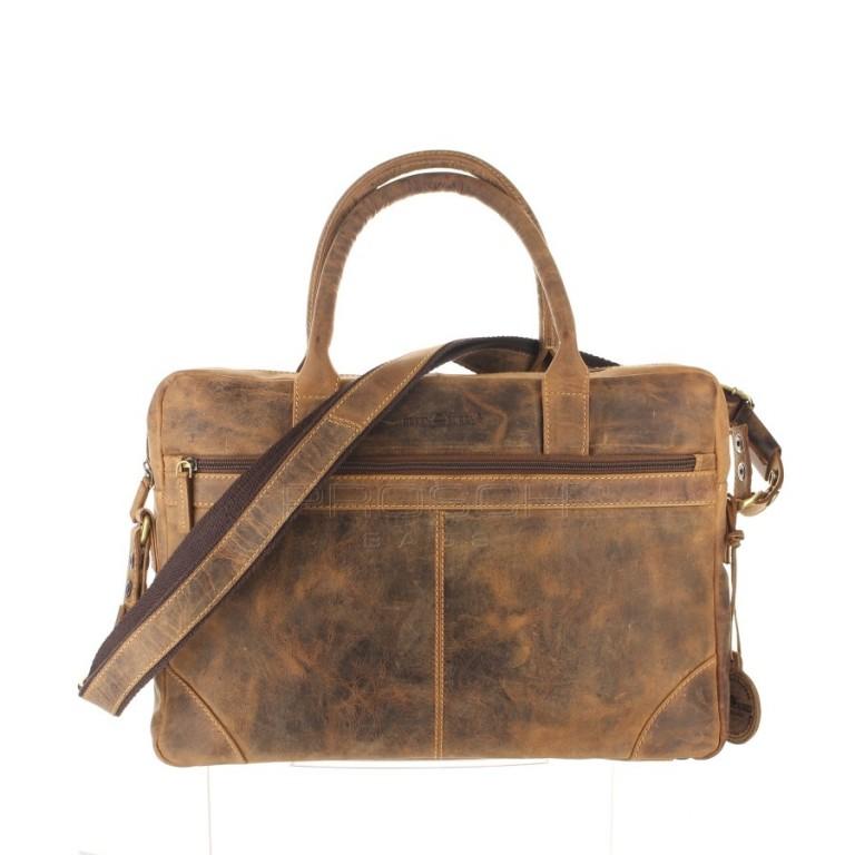 Kožená taška Greenburry 1646-25 hnědá