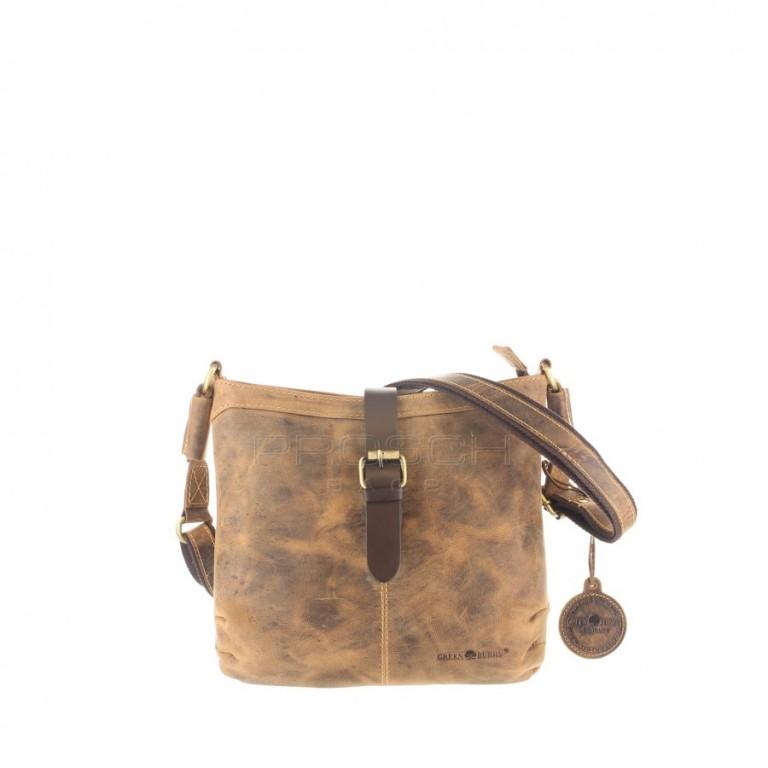 Kožená taška Greenburry 1655-25 hnědá