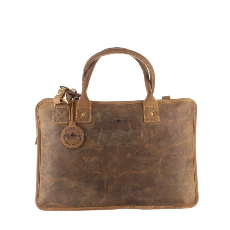 Kožená taška Greenburry 1645-25 hnědá