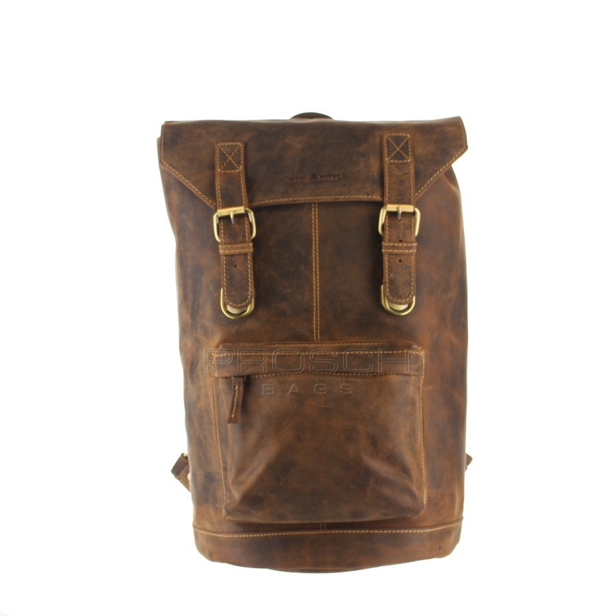 Kožený batoh Retro Greenburry ntb 1689-25 hnědý  1128feb674
