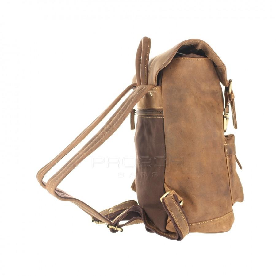 ... Kožený batoh Retro Greenburry 1689S-25 hnědý č.4 ... 8bf88828b1