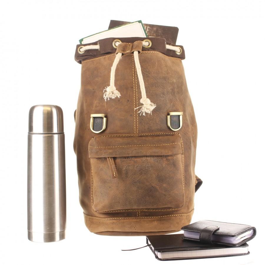 ... Kožený batoh Retro Greenburry 1689S-25 hnědý č.5 ... 2fdc7b6935