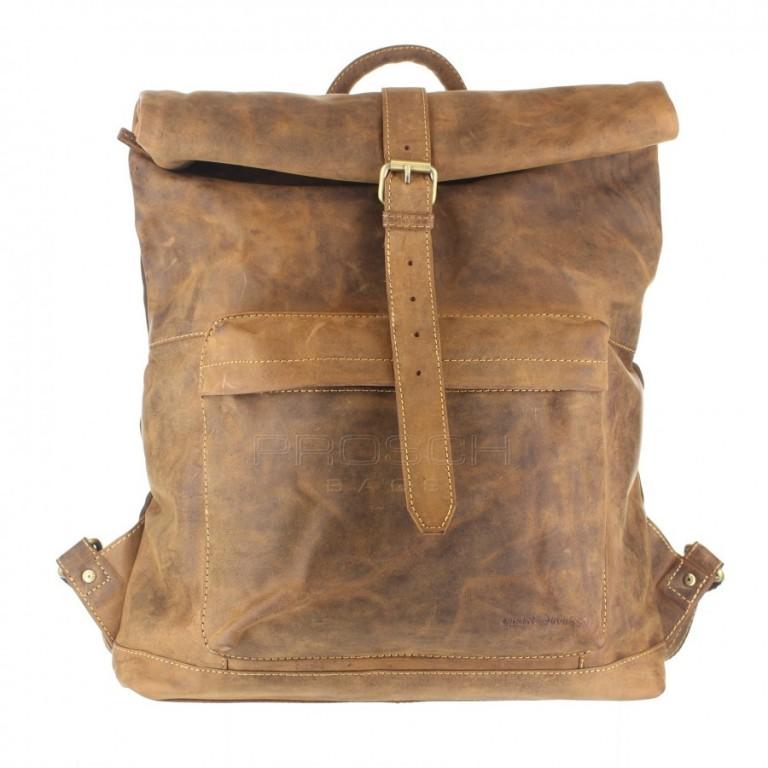 Kožený batoh Greenburry Roller 1671-25 hnědý