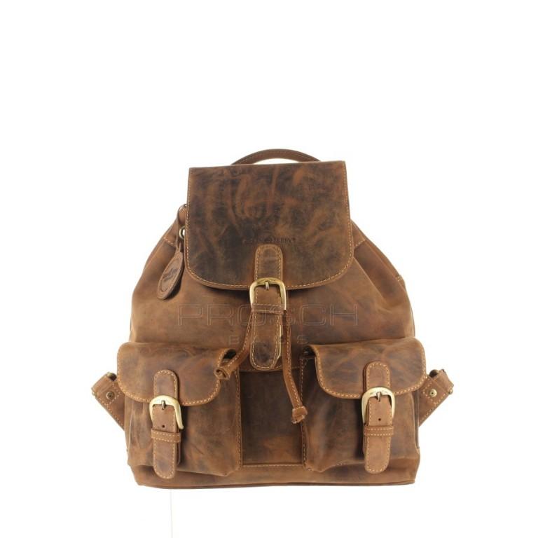 Kožený batoh Greenburry 1711M-25 hnědý