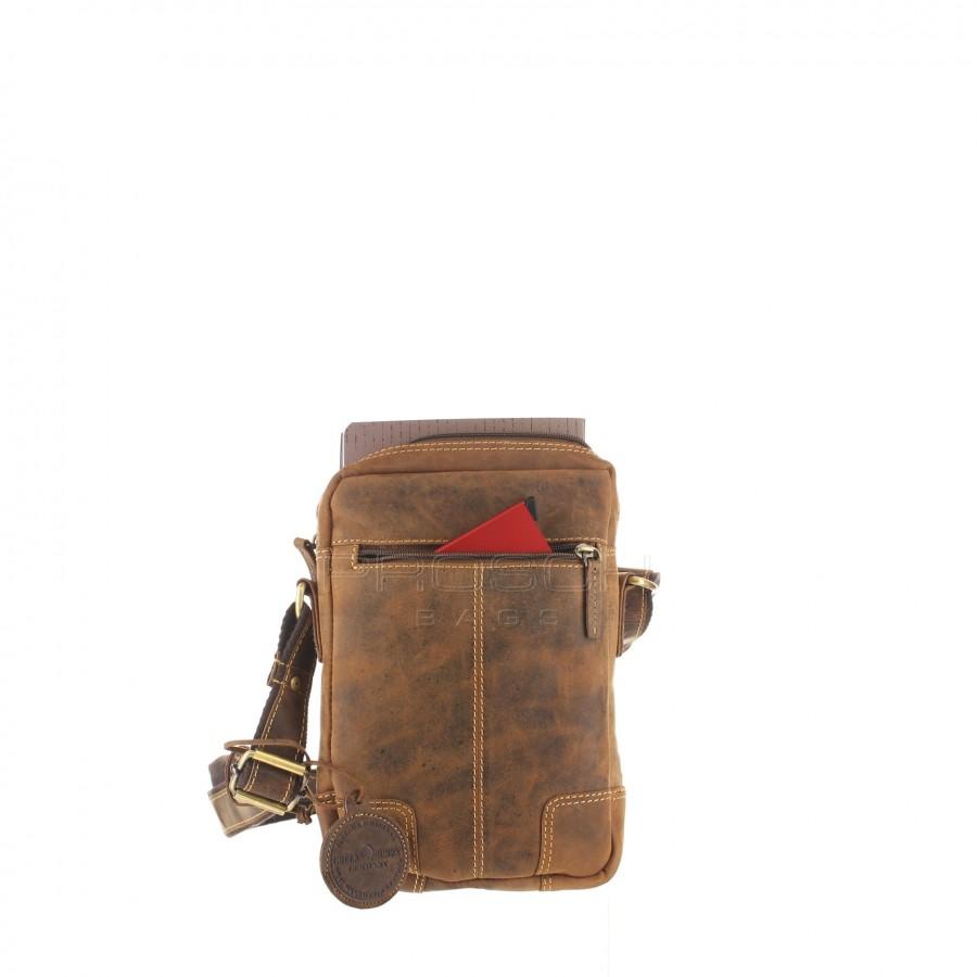 Kožená taška Greenburry 1832 M-25 hnědá  3617010cb1e