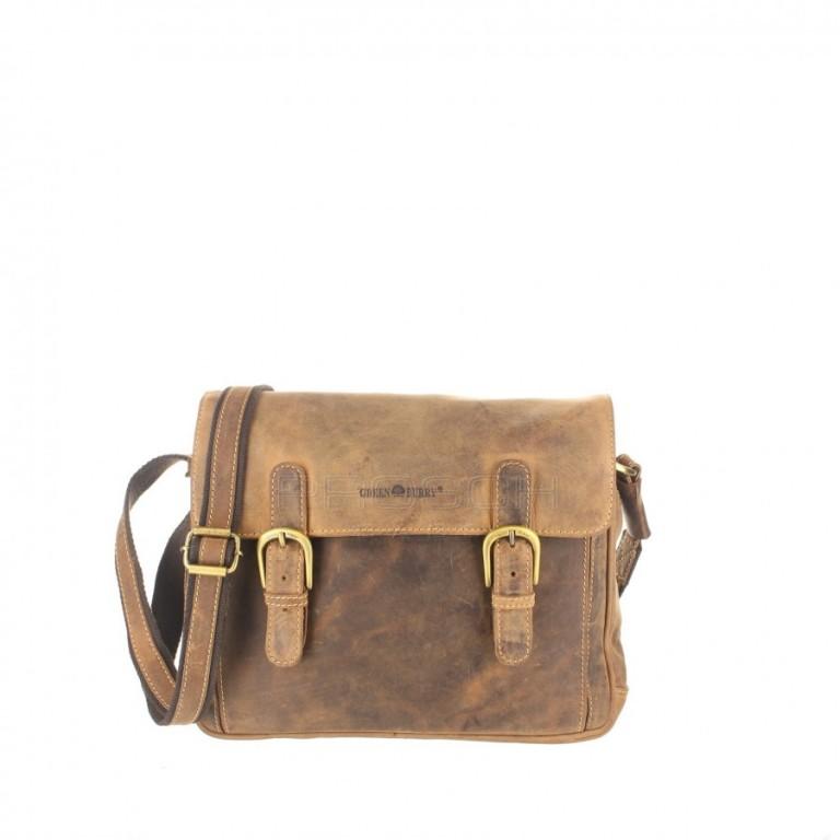 Kožená taška Greenburry 1740-25 hnědá