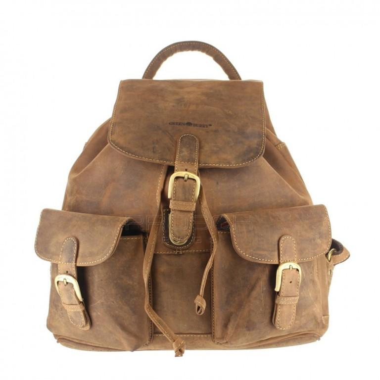 Kožený batoh Greenburry 1711-25 hnědý