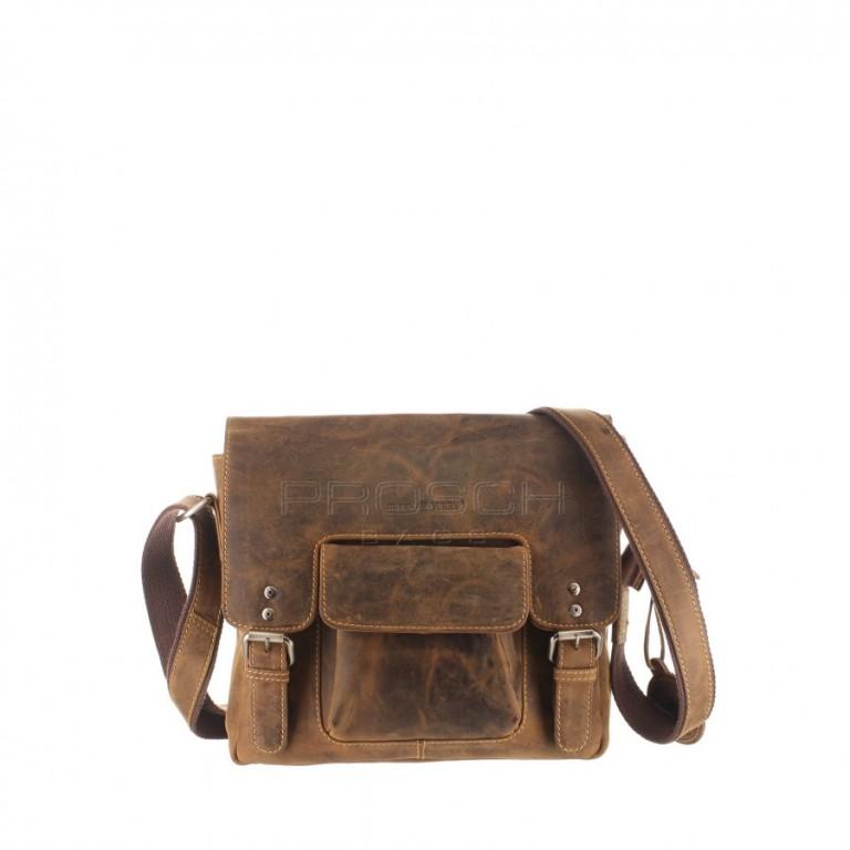 Kožená taška Greenburry 1911-M-25 hnědá