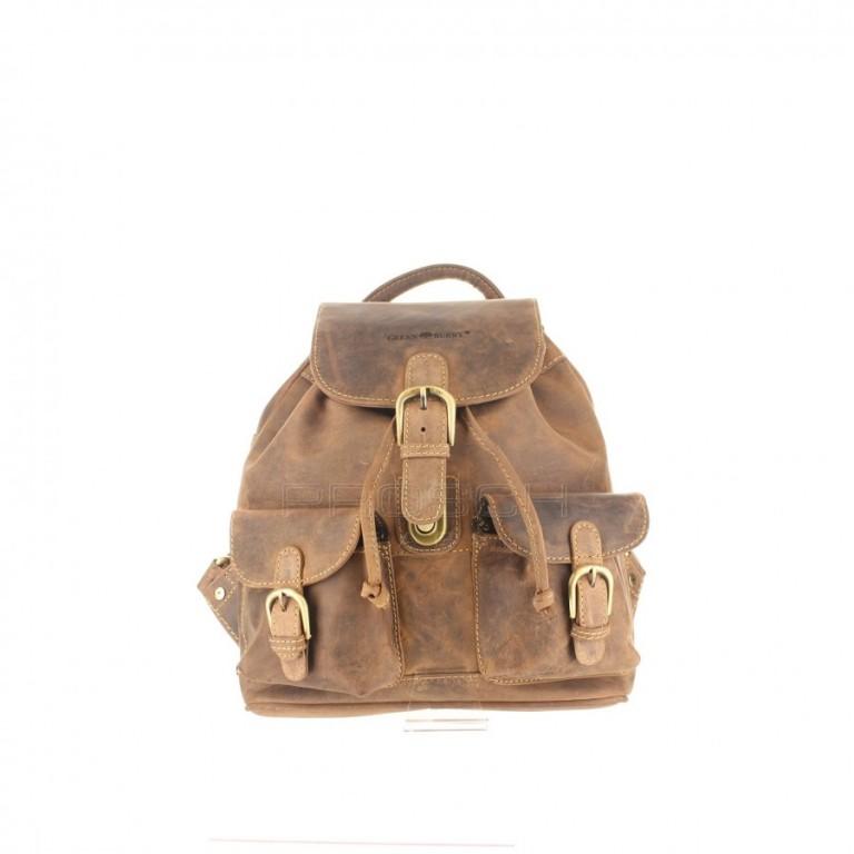 Kožený batoh Greenburry 1711S-25 hnědý