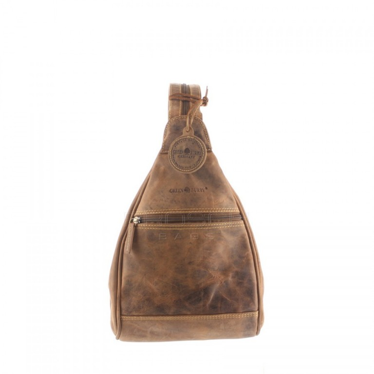 Kožený batoh Greenburry 1717-25 hnědý