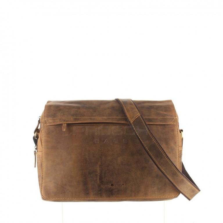 Kožená taška Greenburry 1766-25 hnědá