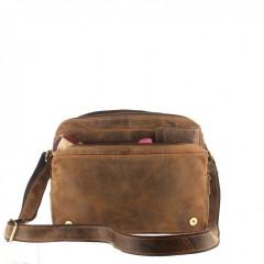 Kožená taška Greenburry 1766-25 hnědá č.7