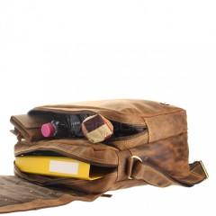Kožená taška Greenburry 1766-25 hnědá č.3
