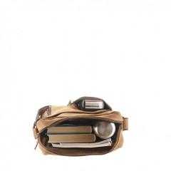 Kožená taška Greenburry Revolver Bag 1694-25 hnědá č.3