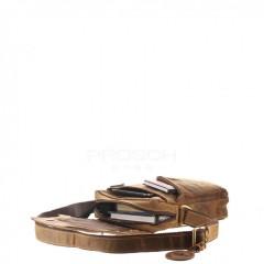 Kožená taška Greenburry Revolver Bag 1694-25 hnědá č.7