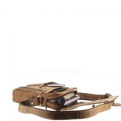 Kožená taška Greenburry Revolver Bag 1694-25 hnědá č.9