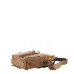 Kožená taška Greenburry Revolver Bag 1694-25 hnědá č.10