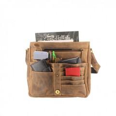 Kožená taška Greenburry 1729-25 hnědá č.5