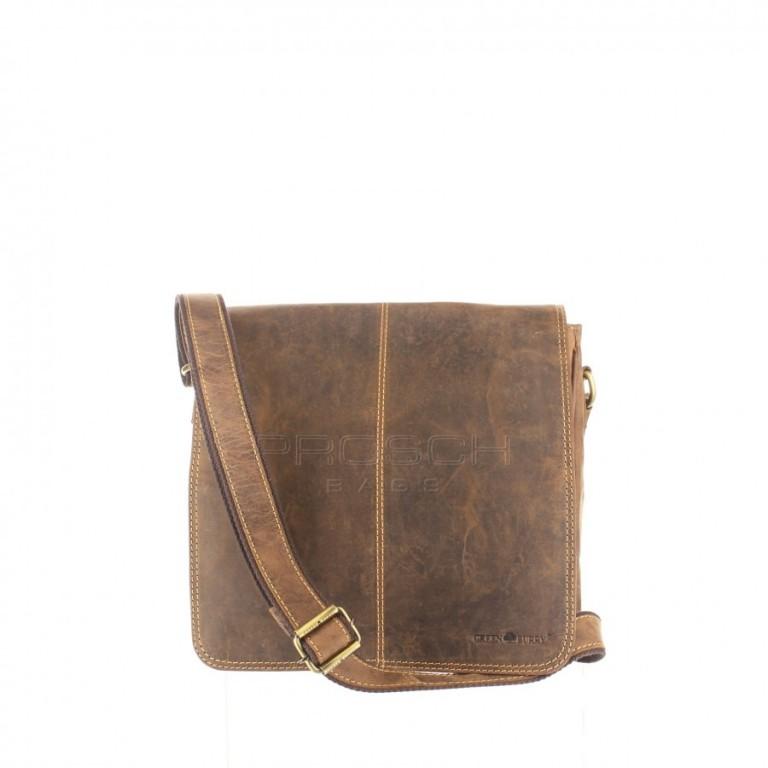 Kožená taška Greenburry 1729-25 hnědá