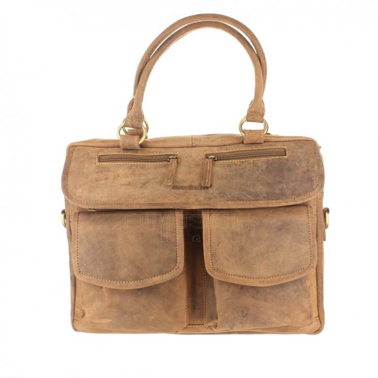 Kožená taška Greenburry 1830-25 hnědá