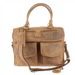 Kožená taška Greenburry 1830-25 hnědá č.5