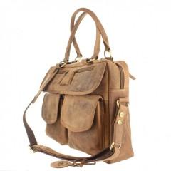 Kožená taška Greenburry 1830-25 hnědá č.6