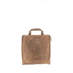 Kožená kosmetická taška Greenburry 1735-25 hnědá č.1