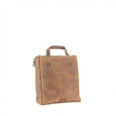 Kožená kosmetická taška Greenburry 1735-25 hnědá č.3