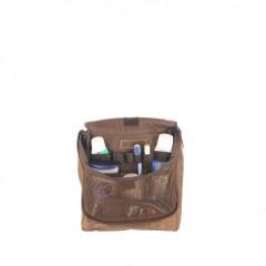 Kožená kosmetická taška Greenburry 1735-25 hnědá č.5