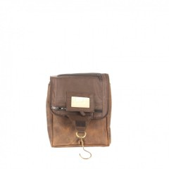 Kožená kosmetická taška Greenburry 1735-25 hnědá č.7