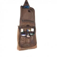 Kožená kosmetická taška Greenburry 1735-25 hnědá č.8