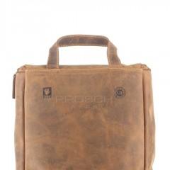 Kožená kosmetická taška Greenburry 1735-25 hnědá č.9