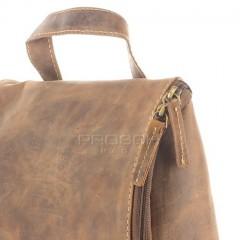 Kožená kosmetická taška Greenburry 1735-25 hnědá č.10