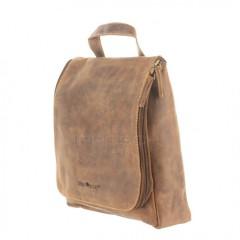 Kožená kosmetická taška Greenburry 1735-25 hnědá č.11