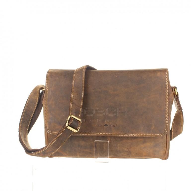Kožená taška Greenburry 1731-25 hnědá